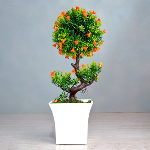 Artificial Bonsai Mix in Ruby pot (Height : 31 cm)
