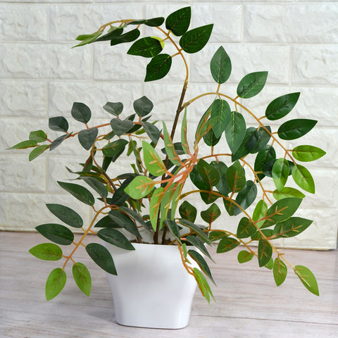 Artificial Ficus branches in Onyx pot (Height : 40 cm)