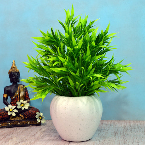 Artificial Bamboo Leaves in Apple pot (Height : 40 cm)
