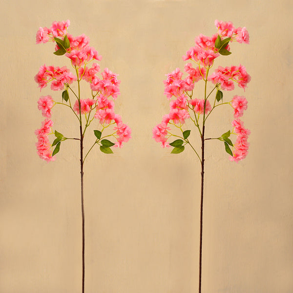Artificial Flower sticks (set of 2) Clarkia Sticks without pot (Height : 90 cm)