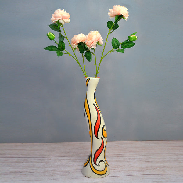 Artificial Flower sticks (set of 2)Hungarian Rose 2 Heads , 1 Bud without pot (Height : 60 cm)