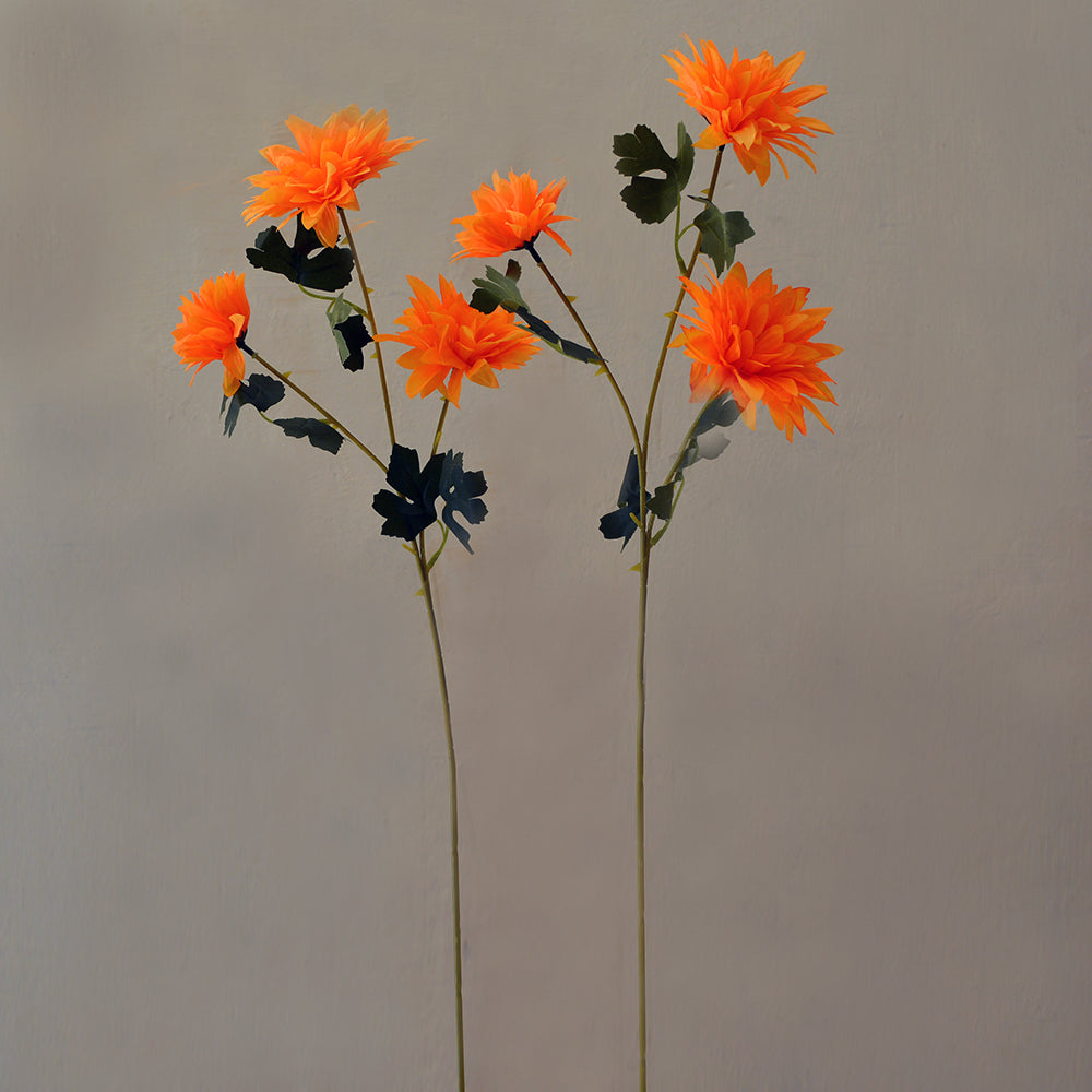 Artificial Flower sticks (set of 2)India Chrysenthum 3 Heads without pot (Height : 60 cm)
