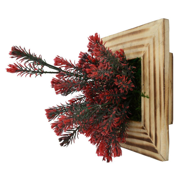 Artificial Green Wall Rosemarry plant Hanging Panel (20 cm X 20 cm )