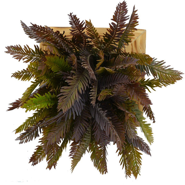 Artificial Green Wall Cypress plant Hanging Panel (20 cm X 20 cm )