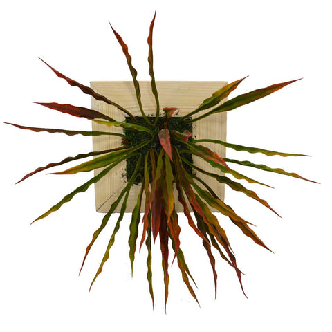 Artificial Green Wall Bamboo Grass plant Hanging Panel (20 cm X 20 cm )