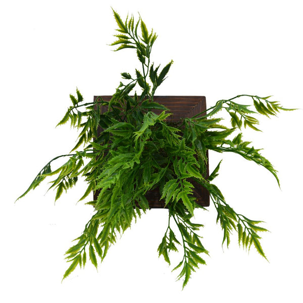 Artificial Green Wall Palaplai plant Hanging Panel (20 cm X 20 cm )