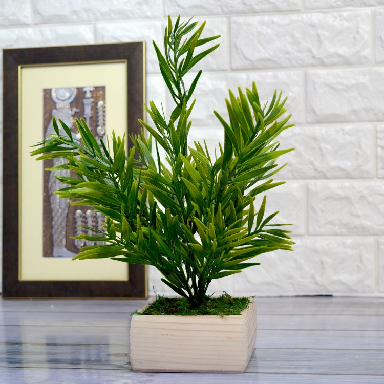 Artificial Mini Bamboo Plant in Pot  (Height : 32 cm)
