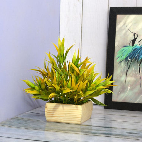 Artificial Coloured Bamboo Leaves in Pot (Height : 22 cm)
