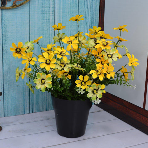 Artificial Daisy Flower in Cone Pot - Fancy Mart