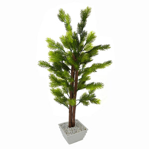 Artificial Pine Bonsai Tree with White Square pot