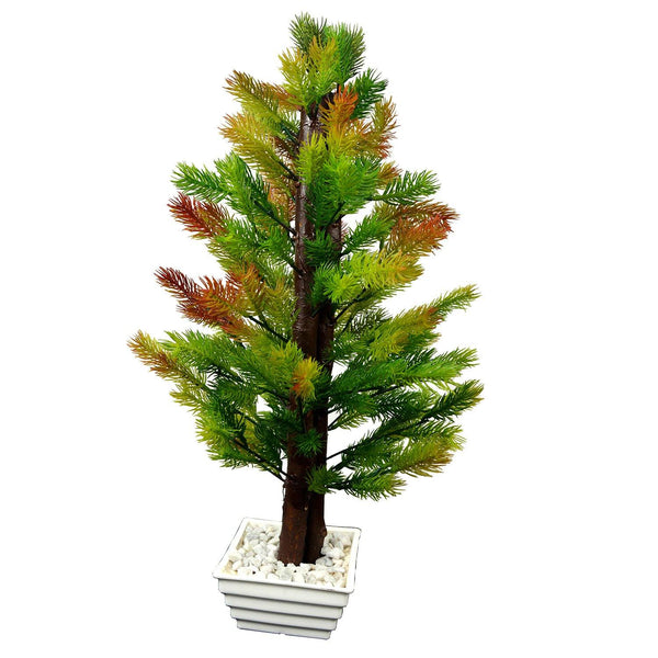 Artificial Pine Tree with White Square pot