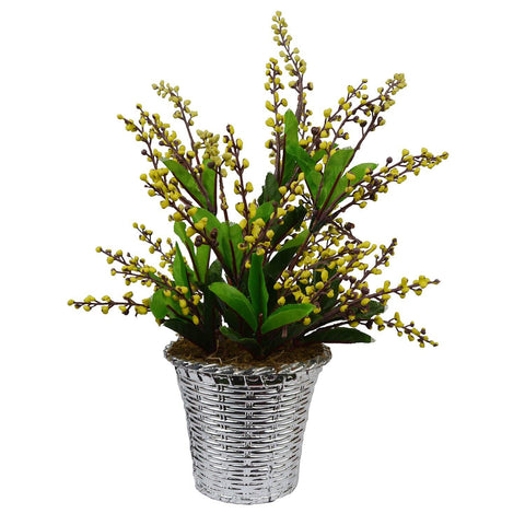 Artificial Beads Leave in Basket pot