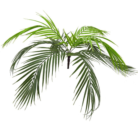 Real Touch Artificial Palm Plant with 9 Leaves Heads (Indoor/Outdoor) - Fancy Mart