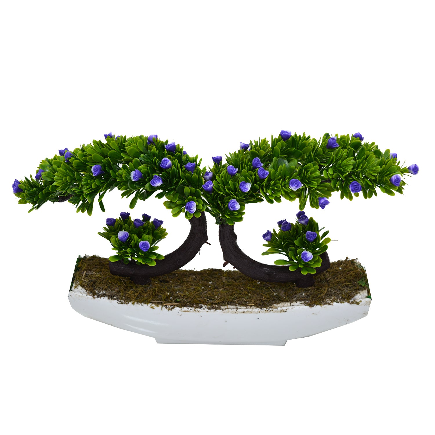 Twin Bend Artificial Bonsai Plant in Pot