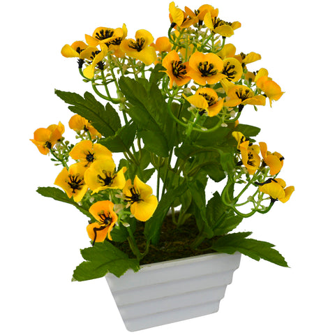 Artificial Flower Mountain Spring with Square Pot