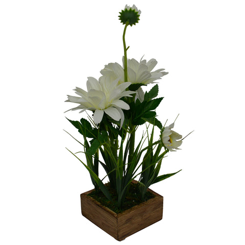 Artificial Autumn Flower in Boat shape pot