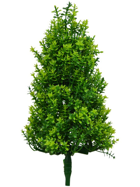 Artificial Bonsai Twin Christmas Tree Plant (Height - 45 cm)