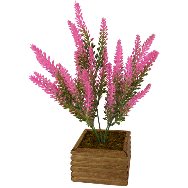Artificial Plant Real Touch Lavender with Square Wood Pot