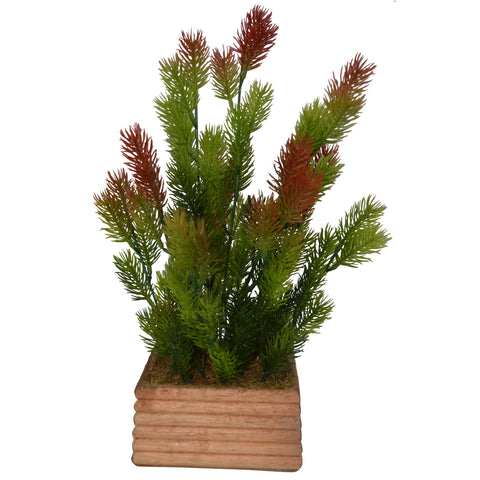 "Artificial Plant Pine in comb 3"" pot"