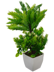 Artificial Plant Coconot (30 cm/ 12 inchs) in Square white Pearl pot