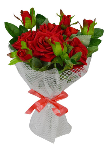 Artificial Rose Flowers Bouquet for Wedding/Anniversaries/Gifts/Festivals (Height : 36 cm)