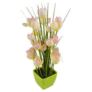 Desktop Artificial Tulip Flower Plant with Pot Style Code-60