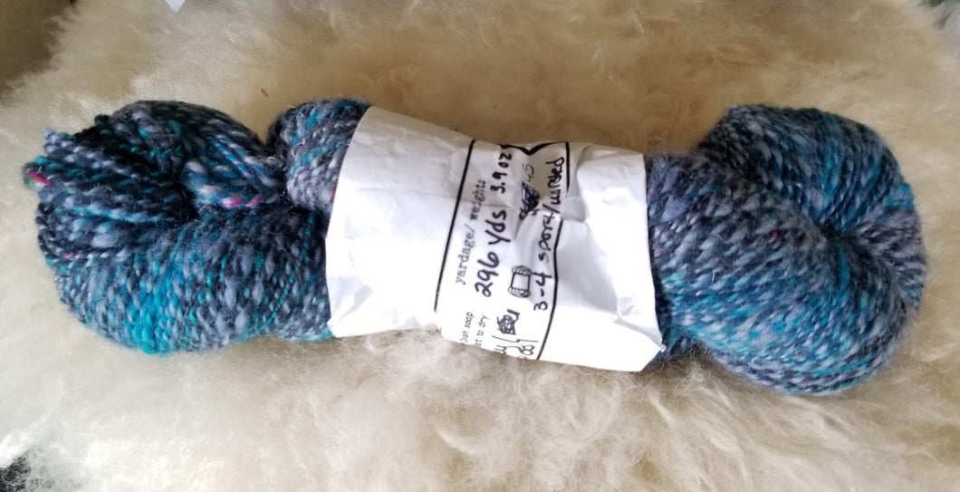 Superwash Merino & Romney Wool Yarn Handspun Gradient DK 2 Ply 296 yds 4 oz 115 grams
