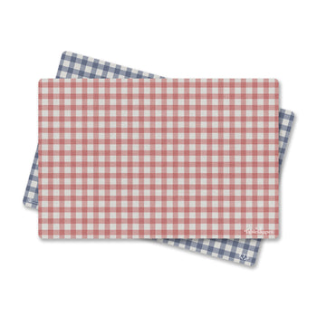 Classic Red Blue Gingham