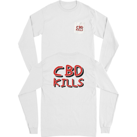 CBD KILLS - LS POCKET TEE