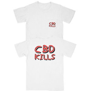 CBD KILLS - POCKET TEE