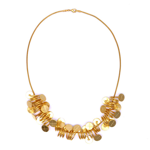 Geometric Gold Finials Necklace