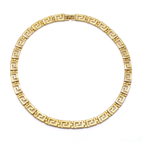 Classical Meander Link Necklace