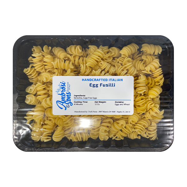 Ambrosi & Sons Fresh Egg Fusilli Pasta 12oz