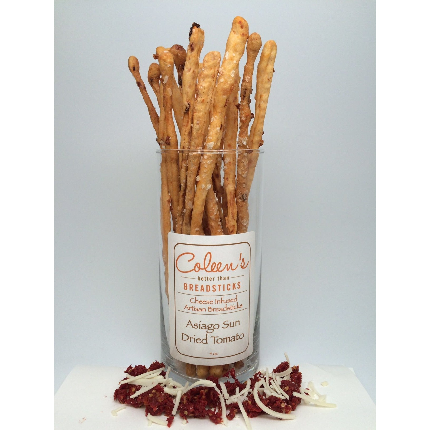 Coleen's Asiago Sun Dried Tomato Breadsticks 4oz