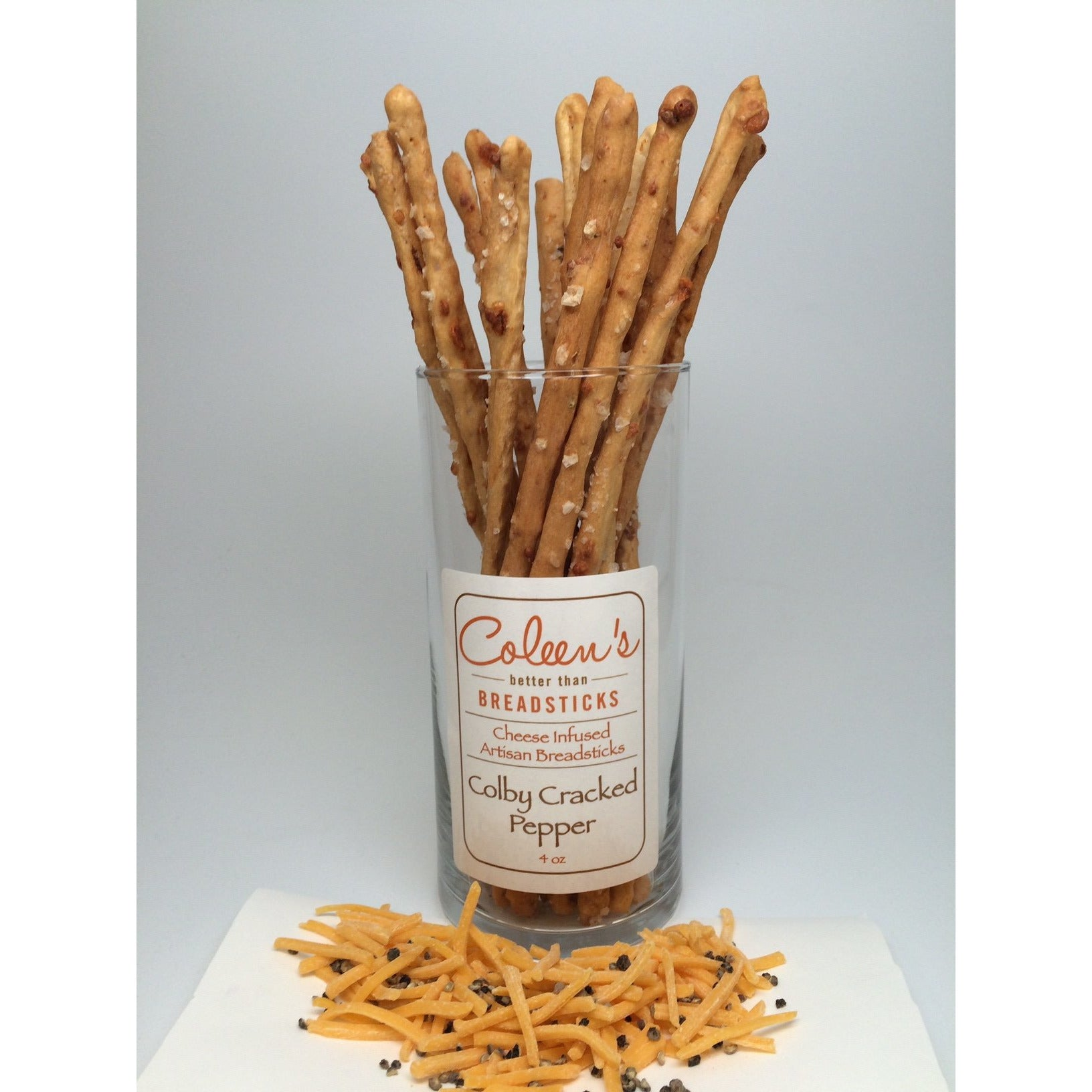 Coleen's Colby Cracked Pepper Breadsticks 4oz