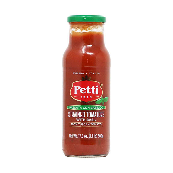 Petti Strained Tomatoes w/ Basil 17.5oz