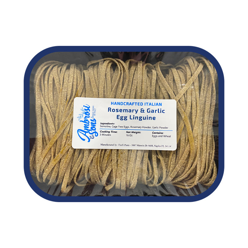 Fresh Rosemary & Garlic Egg Linguine Pasta 16oz