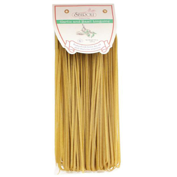 Sbiroli Linguine Garlic & Basil Flavored Pasta 8.8oz