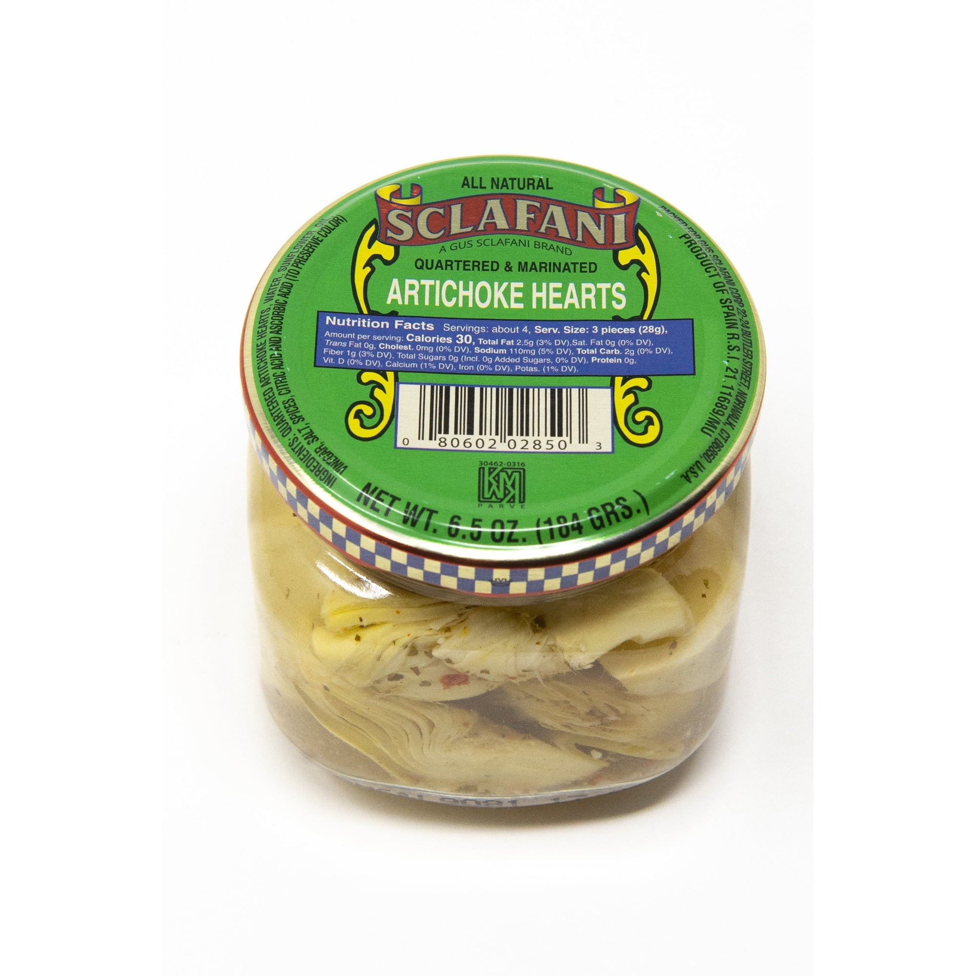 Sclafani Marinated Artichoke Hearts 6.5 oz.