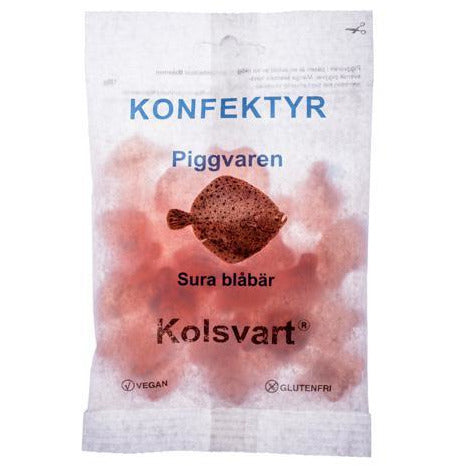 Kolsvart Piggvaren (Turbot) Sour Blueberry Swedish Fish 4.2oz