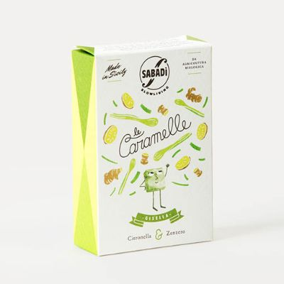 Sabadi Organic Lemongrass & Ginger Hard Candies 40g
