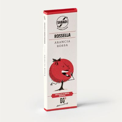 Sabadi Organic Modica Chocolate w/ Blood Orange 50g