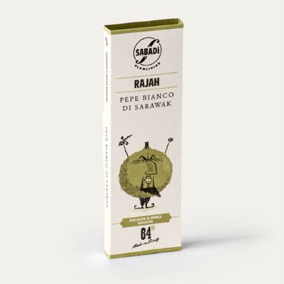 Sabadi Organic Modica Chocolate w/ White Peppercorns 50g