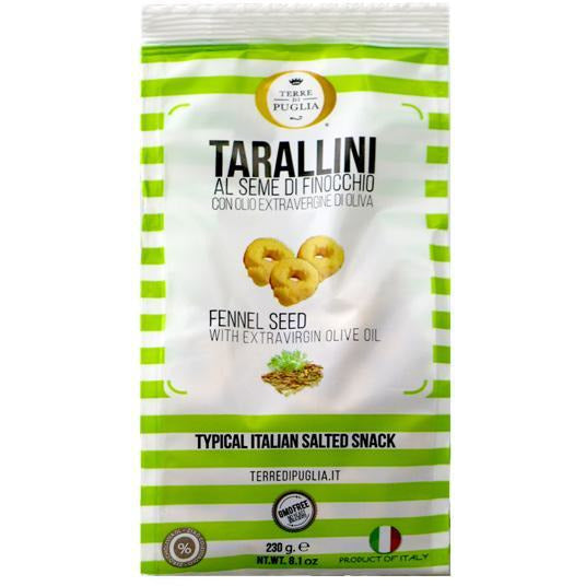 Terre Di Puglia Taralli with Fennel 8.1 oz