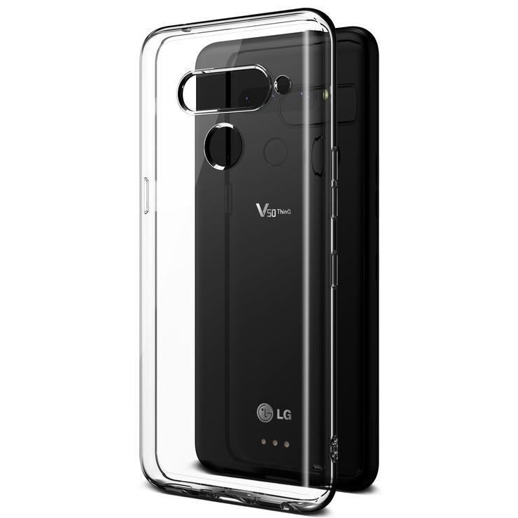 VRS Crystal Fit Series LG V50 ThinQ Case - Crystal Clear