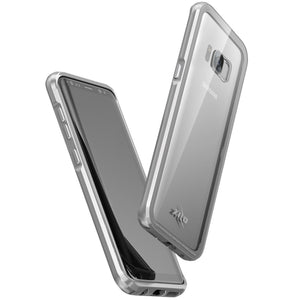 ATOM Air-frame Full Glass Guard Galaxy Note 8 Case - Silver