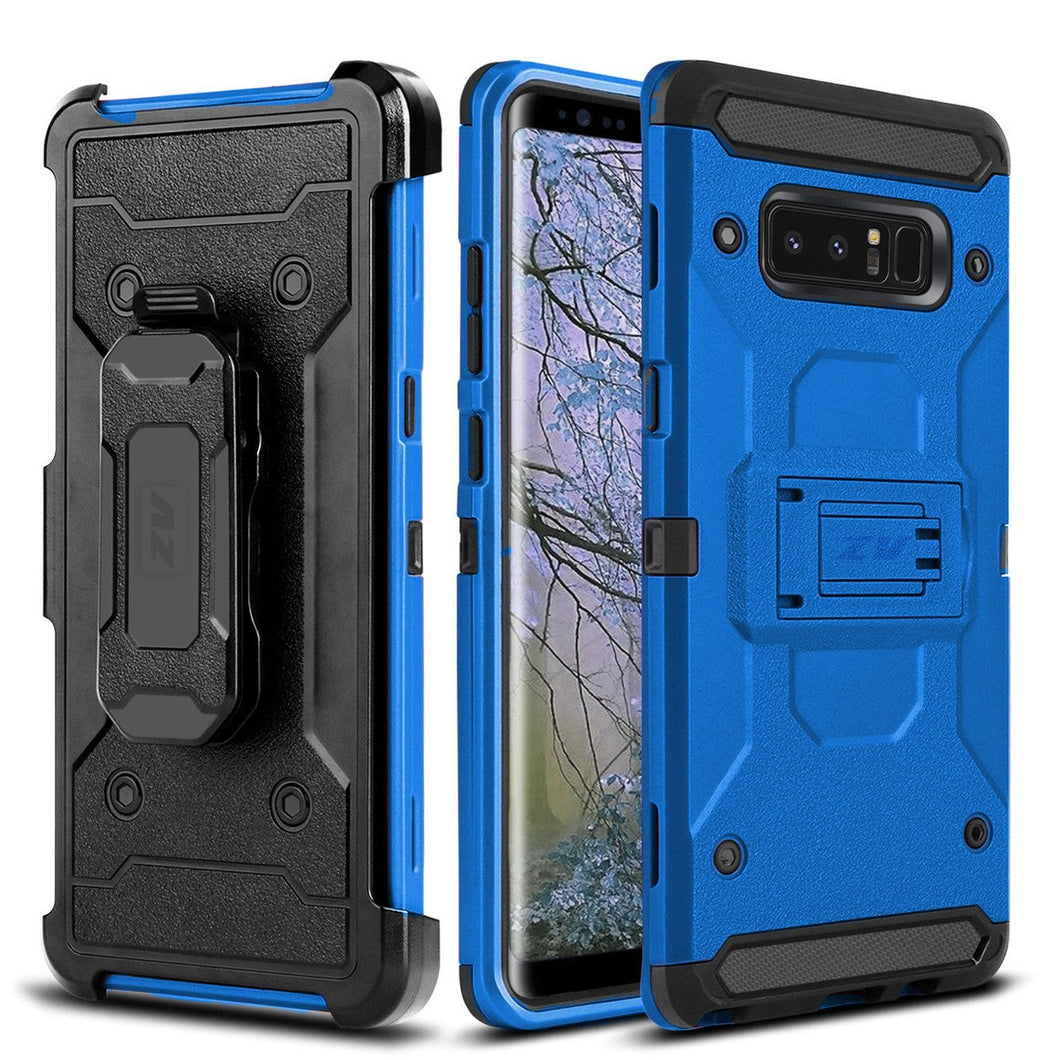 Storm Tank Holster Combo Galaxy Note 8 Case - Blue