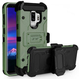 ZV Tough Armor Holster Galaxy S9+ Plus Case - Army Green