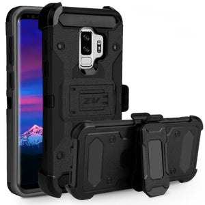 ZV Tough Armor Holster Galaxy S9+ Plus Case - Black