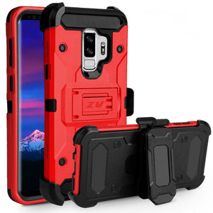 ZV Tough Armor Holster Galaxy S9+ Plus Case - Red